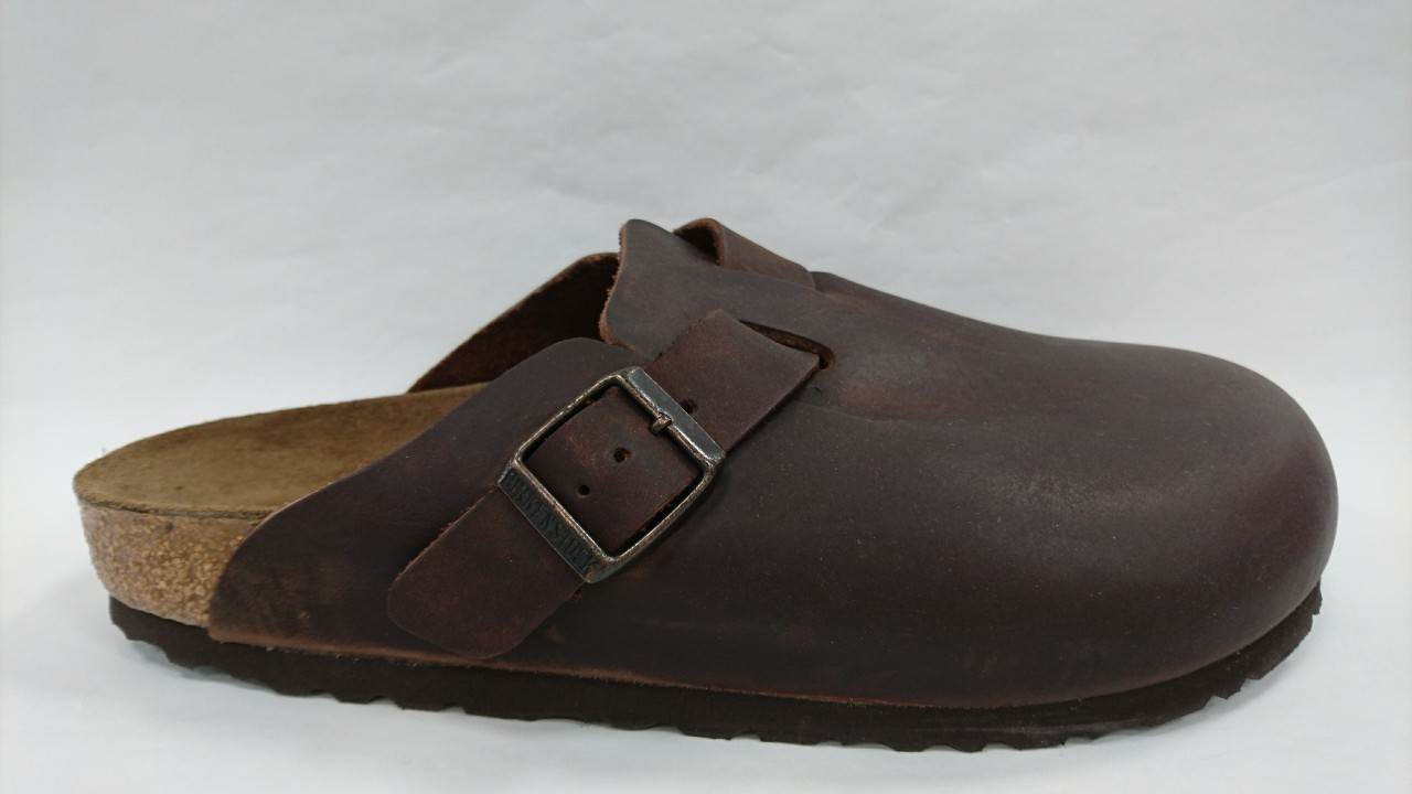 the latest ac8f0 70b71 Birkenstock Boston Pelle Marrone Uomo e Donna