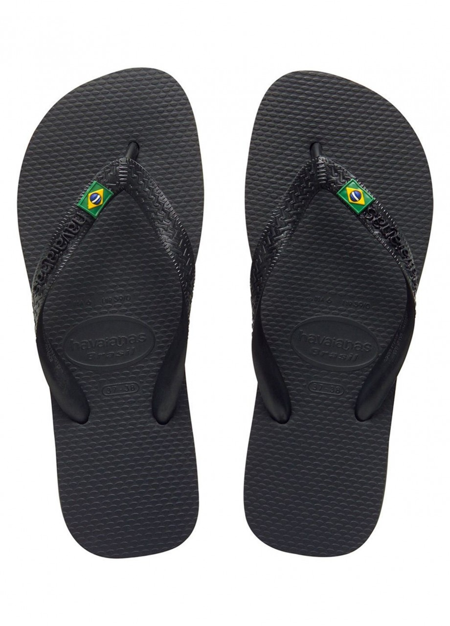 finest selection f35d8 2d8cd Havaianas Brasil Nero Uomo e Donna 4000032 090
