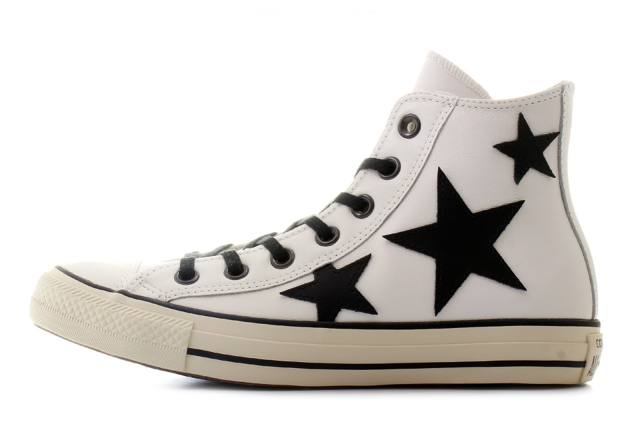 all star converse pelle bianca