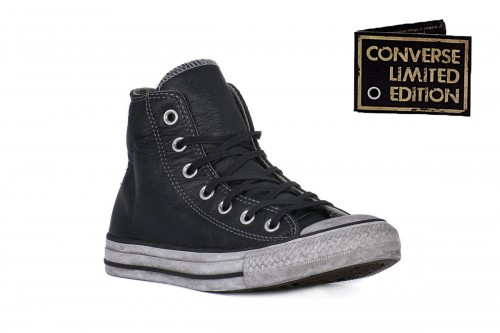 all star converse pelle nera