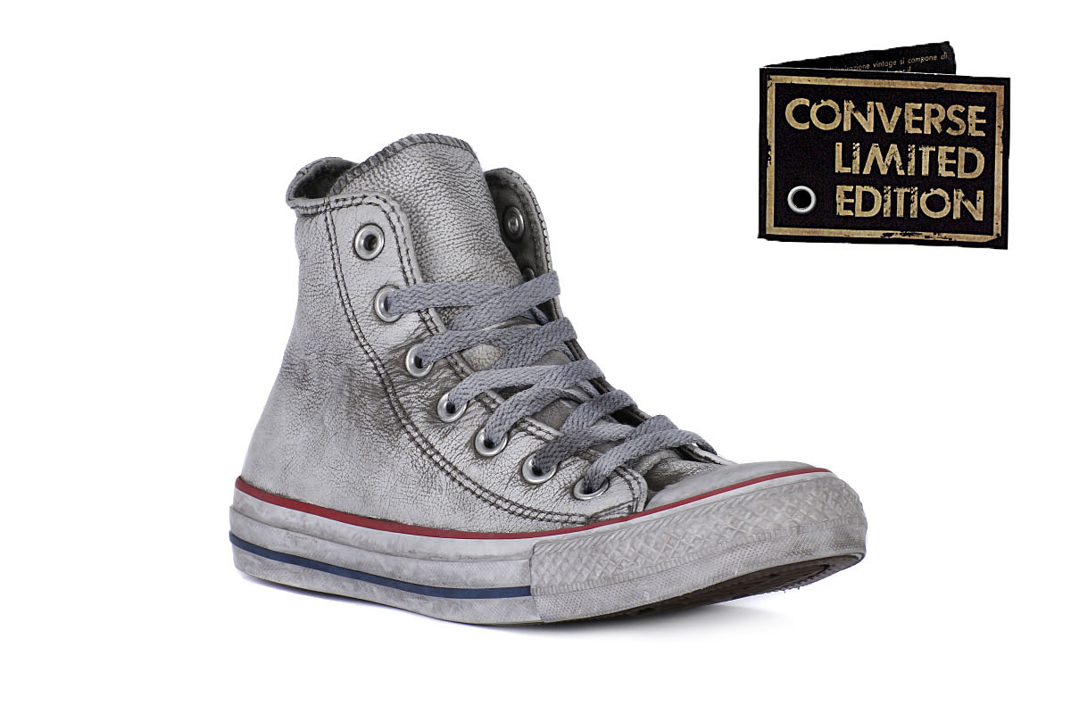 converse all star pelle uomo grigie