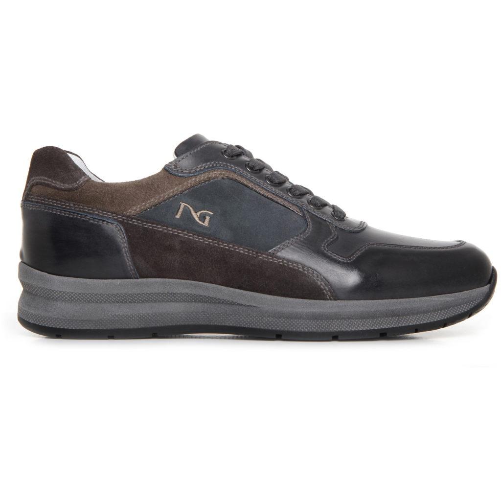 Nero giardini sneakers uomo pelle blu a705250u 200 - Scarpe invernali uomo nero giardini ...