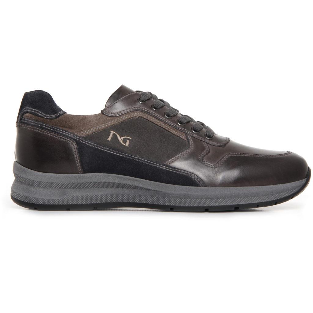Nero giardini sneakers uomo pelle antracite a705250u for Scarpe uomo zalando