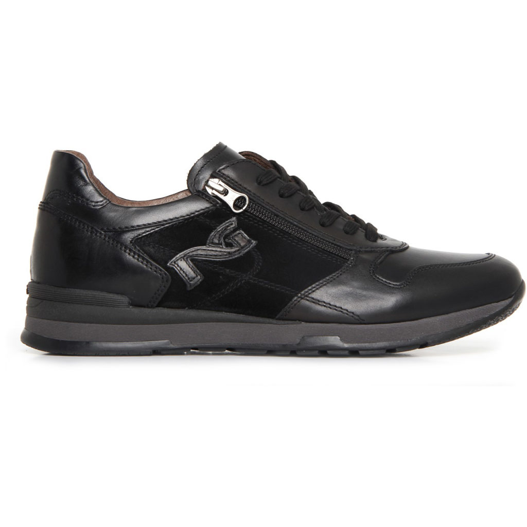 Nero giardini sneakers uomo pelle nera a705241u lombardi - Scarpe nero giardini outlet ...