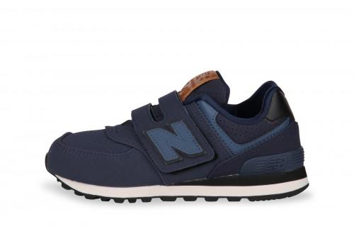 new balance 574 bambina blu