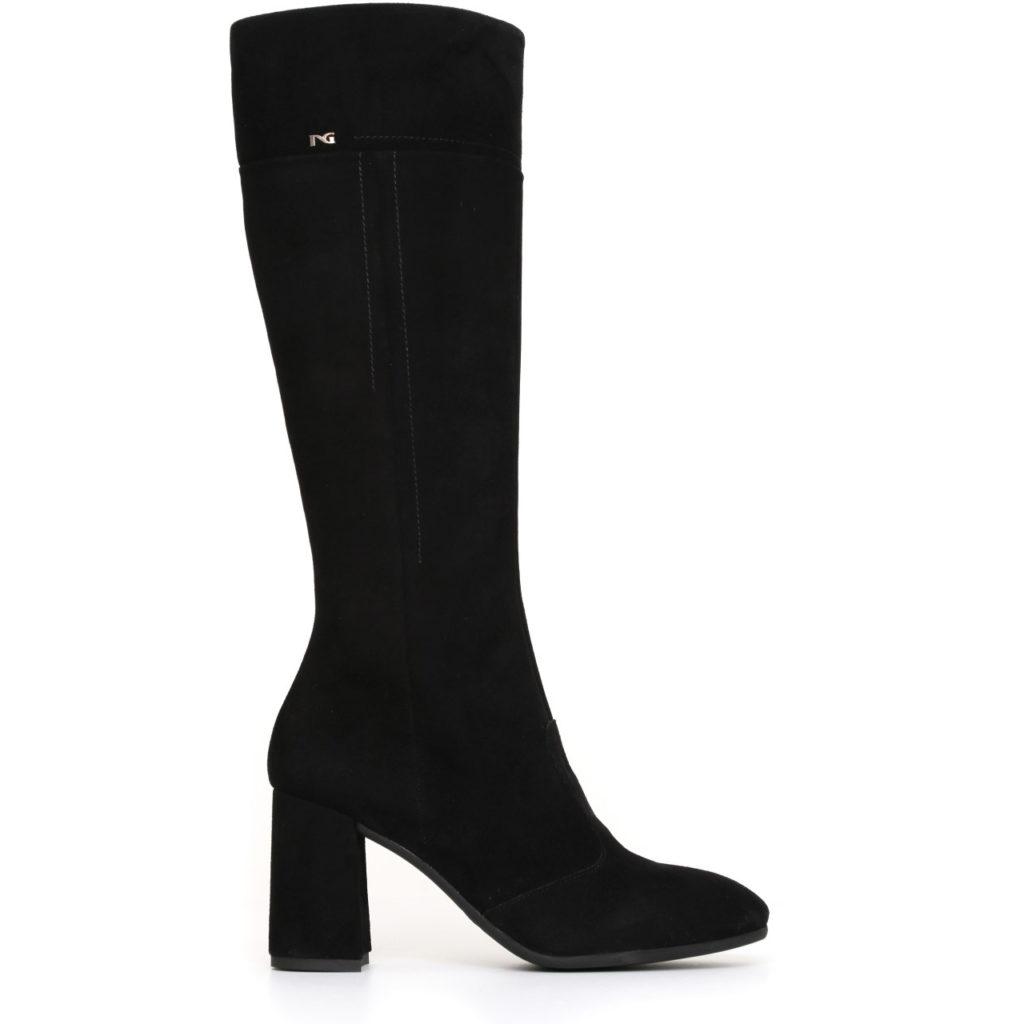 Nero giardini donna stivale pelle scamosciata nera con tacco a719674de 100 lombardi calzature - Nero giardini black friday ...