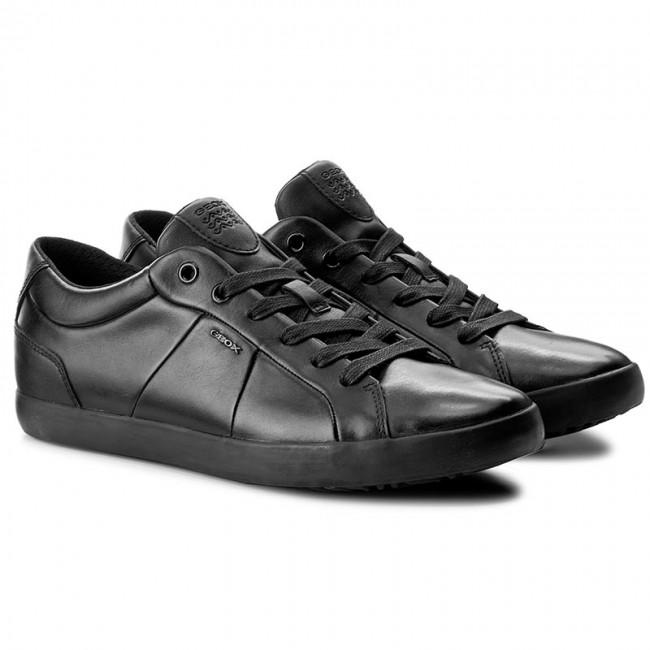 Geox U SMART I Sneakers Uomo scarpa bassa in pelle nera -  mainstreetblytheville.org dfa2f4e65dc