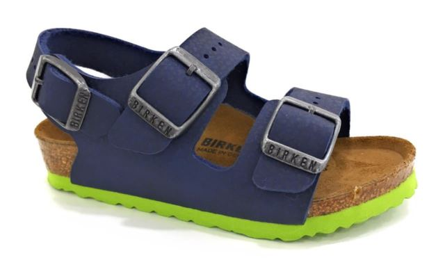 159e77736c Birkenstock Bimbo Milano Blu Verde 035203