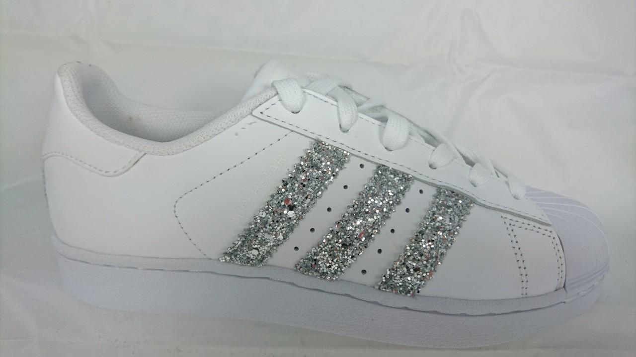 Adidas Superstar Glitter Argento