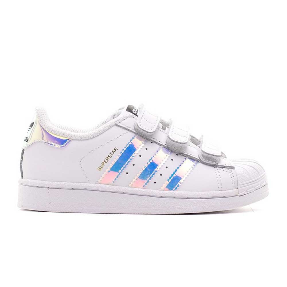 sports shoes ff5f4 ebdfa Adidas Superstar Bimba Strappi Strisce luminose AQ6279
