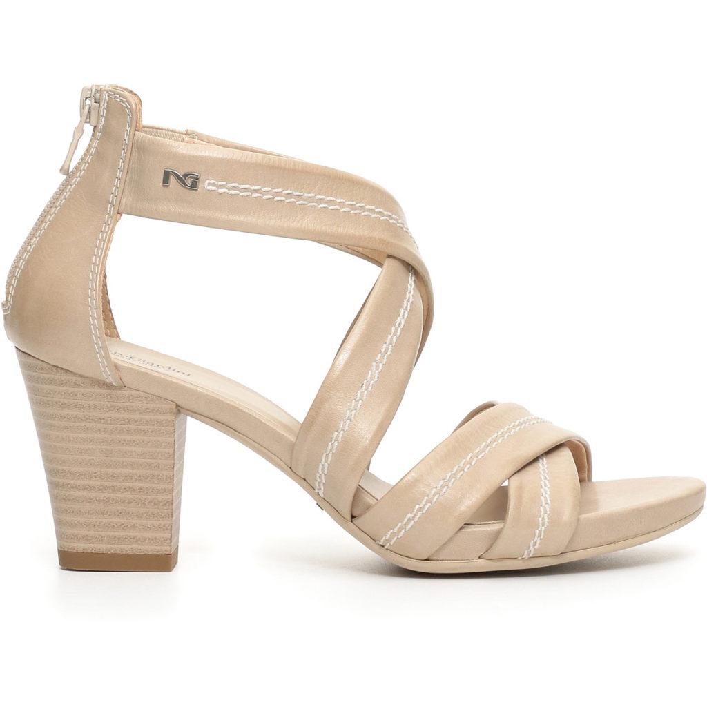 Nero Giardini Sandalo Donna Pelle Beige 717590D - LOMBARDI CALZATURE ... f6d25954abd