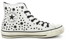 new product 5404f a3123 Converse All Star Dristressed Pelle Bianca con Borchie Donna 158969c