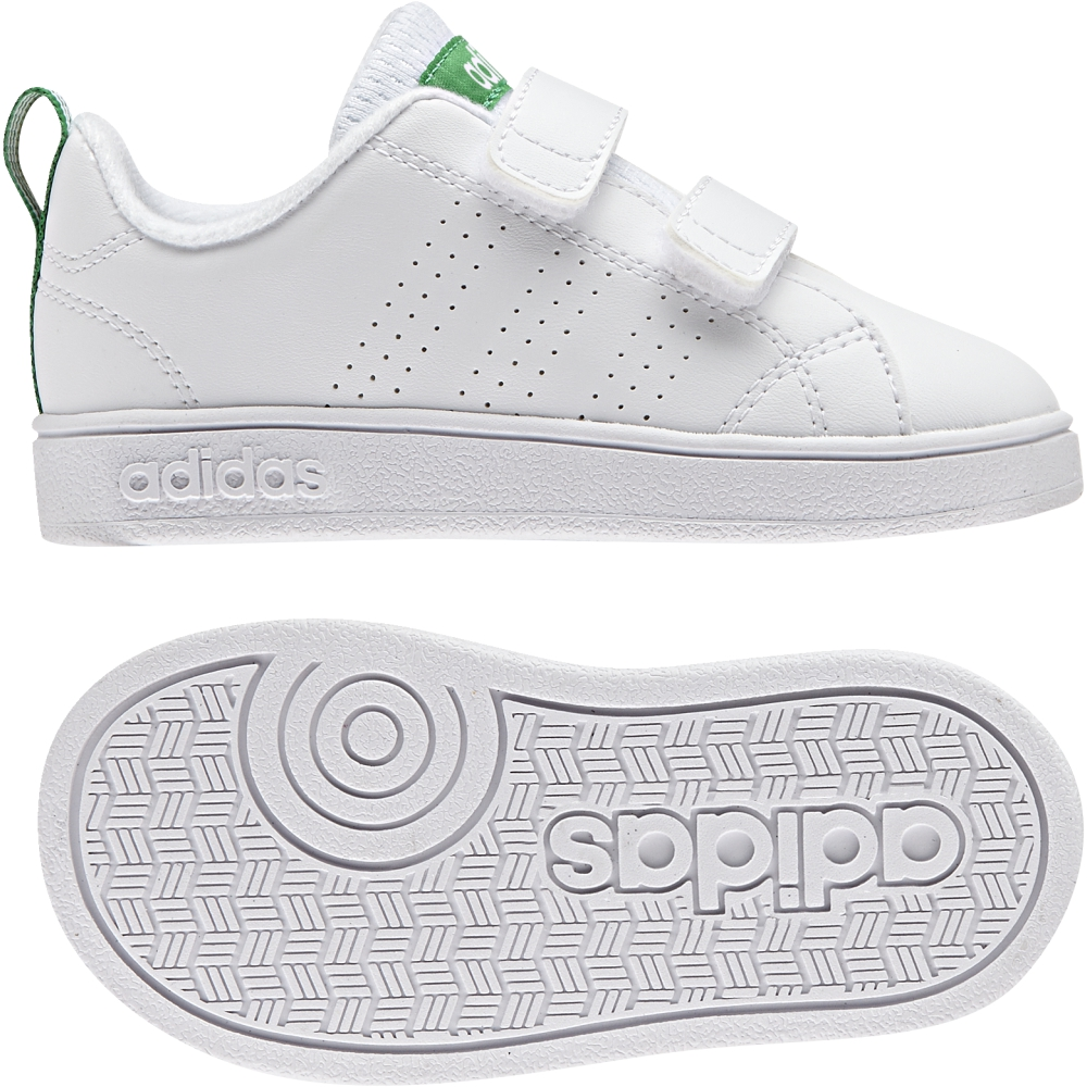 newest abaca 5c753 Adidas Baby Bimbi Advantage Clean CMF INF AW4889 Bianco Verde