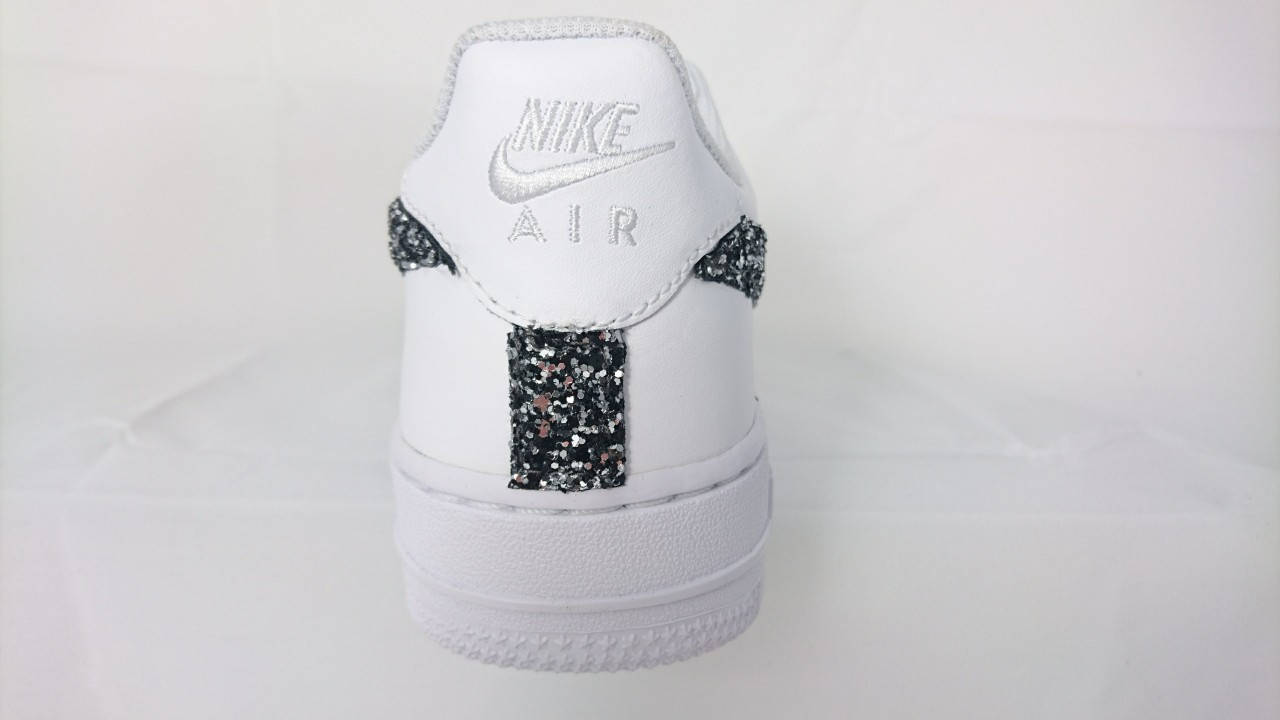 quality design 3e647 6657f Nike Air Force basse Glitter NeroArgento