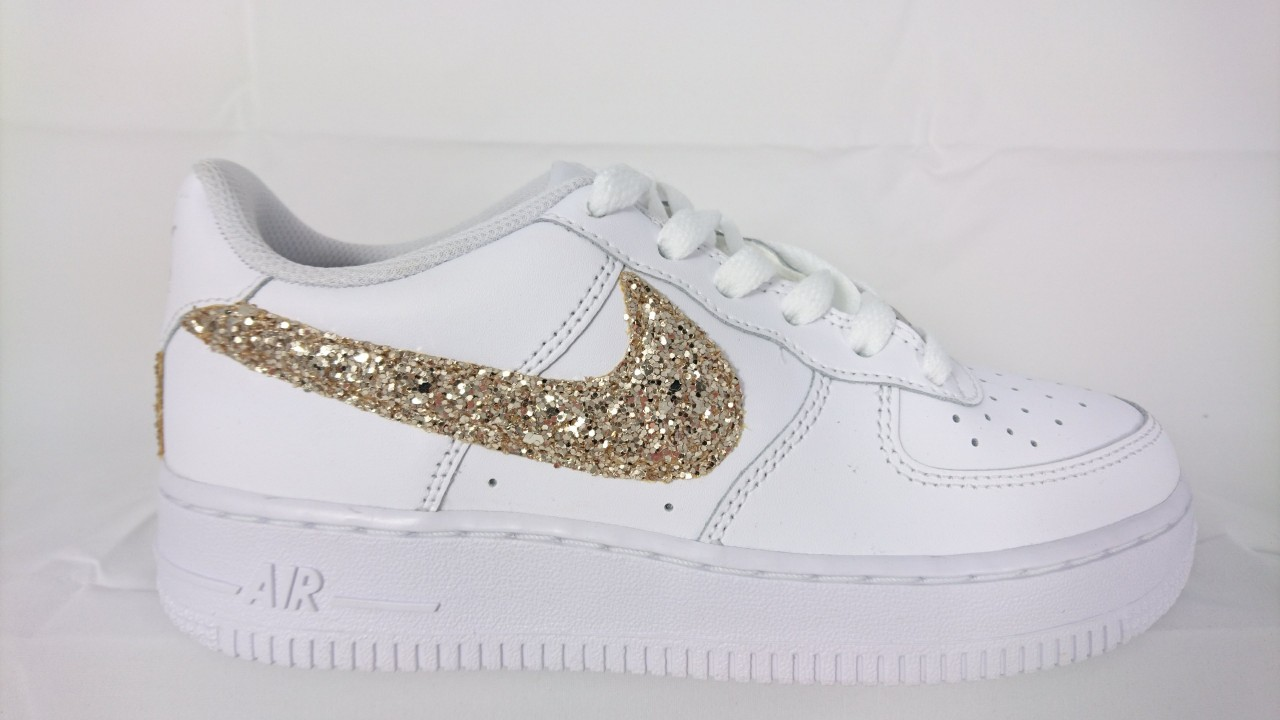 sports shoes c68ac 6a8e3 Nike Air Force basse Glitter Oro