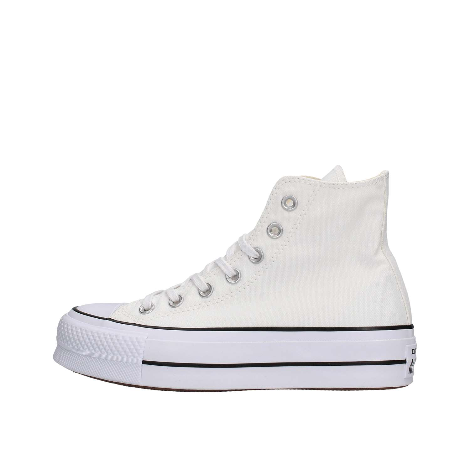 2converse all star platform bianche