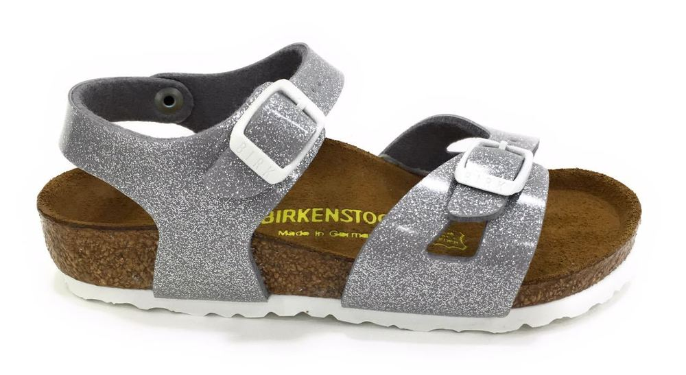 hot sale online a7cab 5f0a5 Birkenstock Bimba Rio Magic Galaxy Glitter Silver 831783