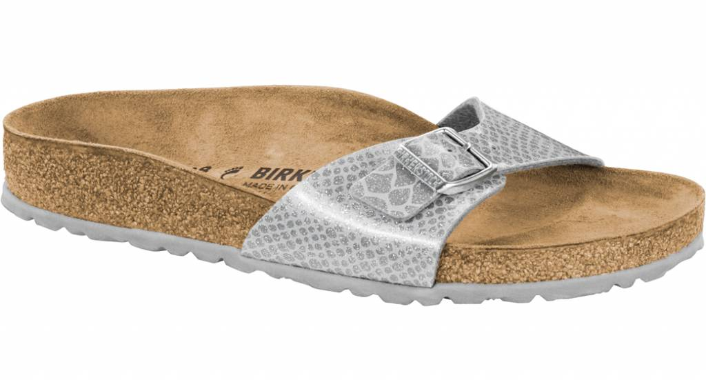 pretty nice 24b24 2916a Birkenstock Madrid Donna Magic Snake Silver 1009100