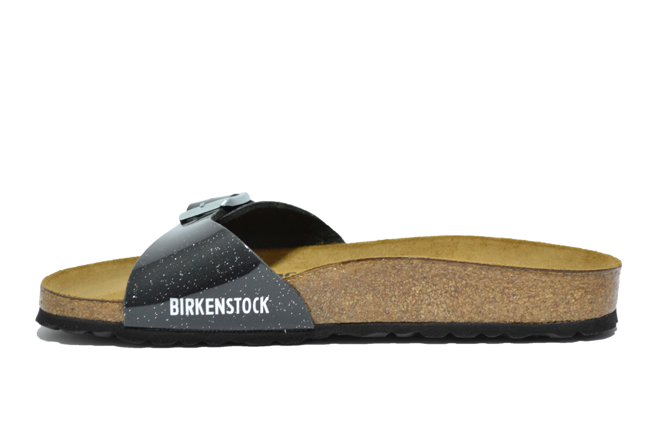 Birkenstock Madrid Magic Galaxy Glitter Nero Donna 438013 - LOMBARDI ... e96e210b297