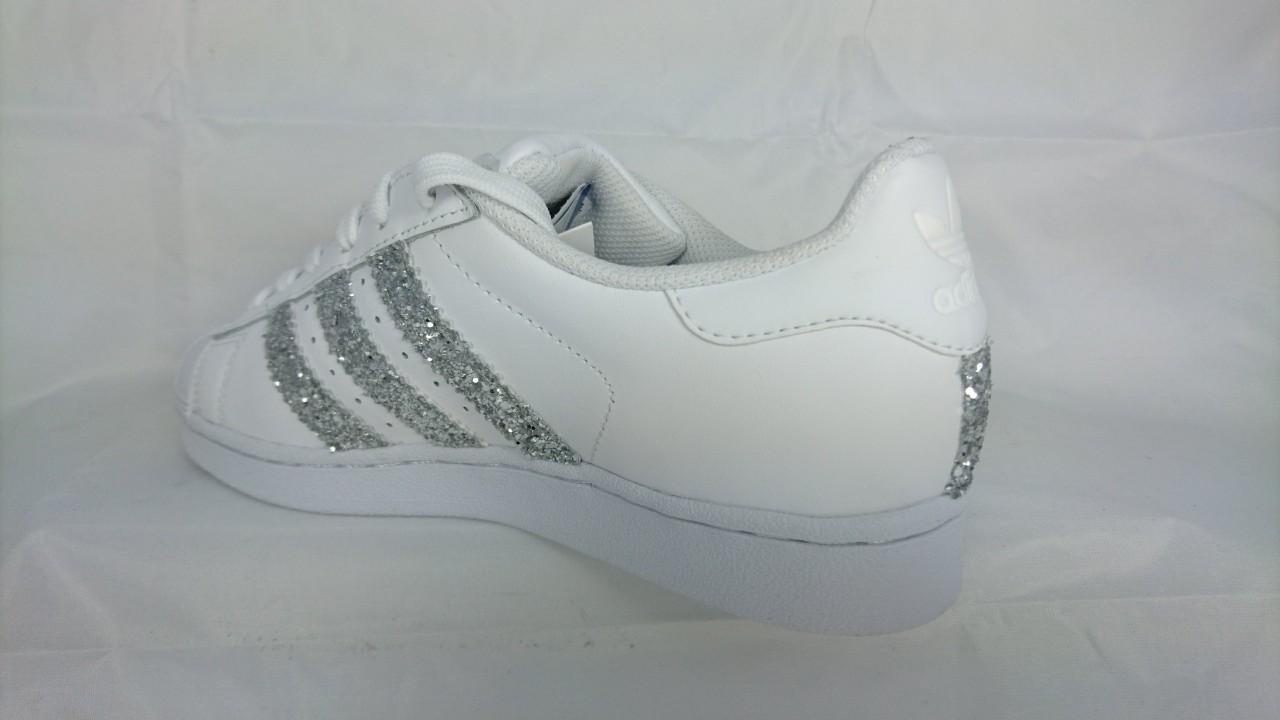 adidas superstar donna glitter argento
