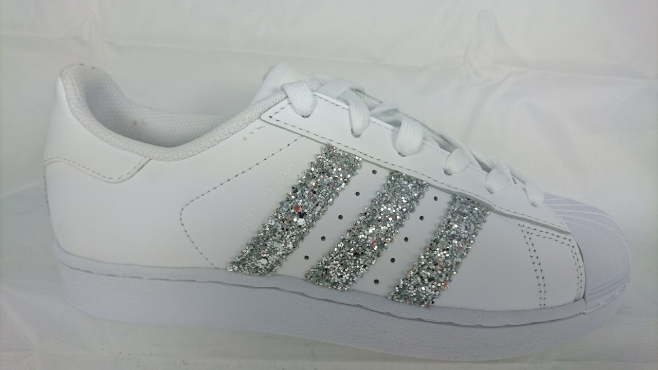 adidas superstar argento brillantini