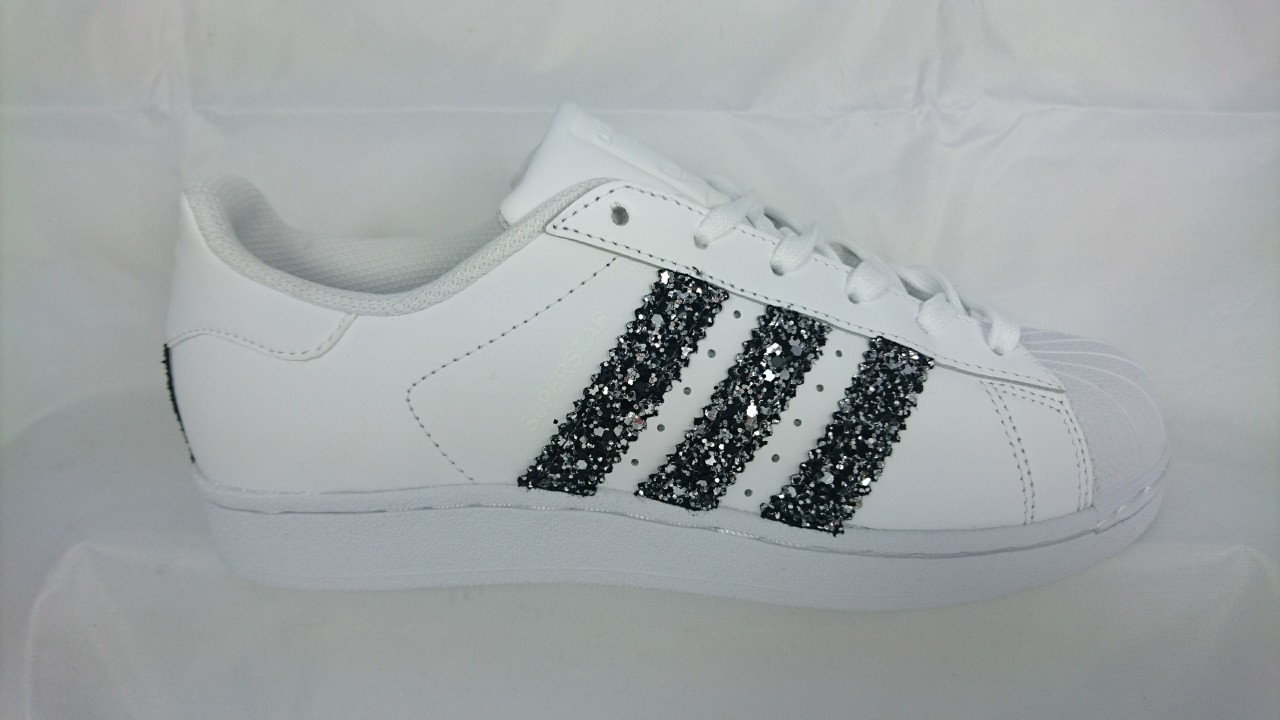 Adidas Superstar Glitter Nero