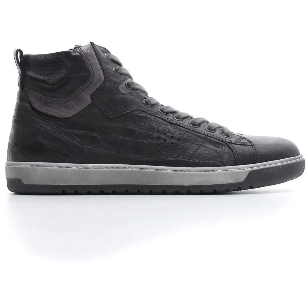 Nero Giardini Sneakers Alta Uomo A800490U 100 - LOMBARDI CALZATURE ... 1e076329590