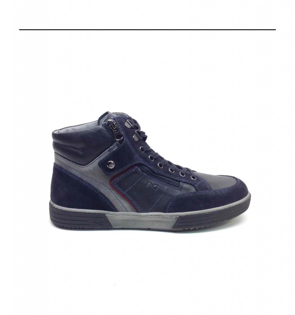 Nero Giardini Sneakers Blu Alta Uomo A800411U 200 - LOMBARDI ... c5684f75b68