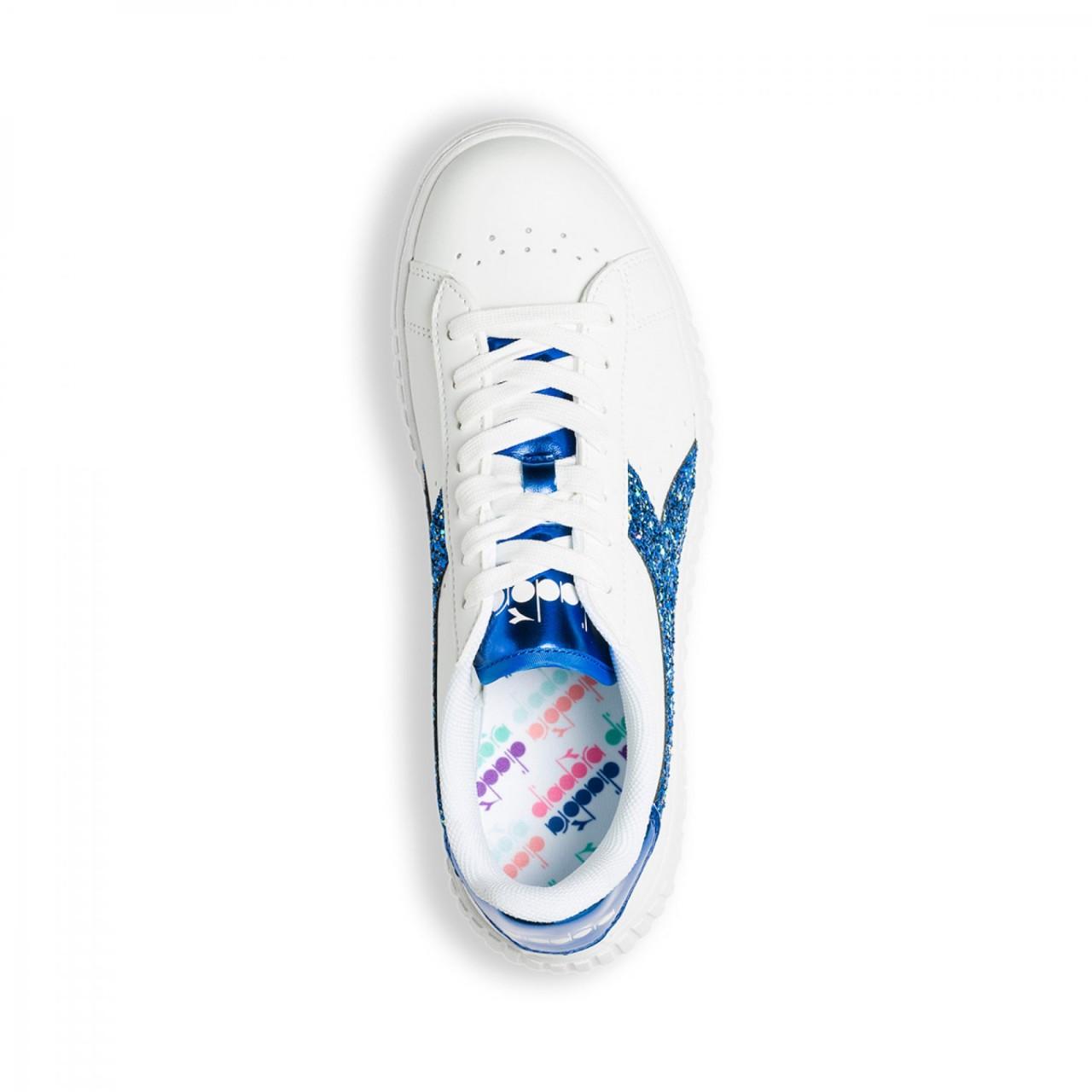 Diadora Game Step Platform Glitter Blu 101.175057 01 C7011