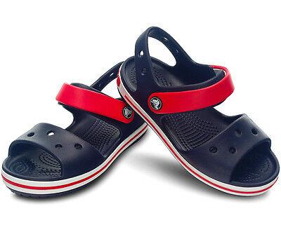 SANDALI-CIABATTE-MARE-CROCS-CROCBAND-SANDAL-KIDS-bambino-12856-blu-rosso-mare-gomma-verona-v