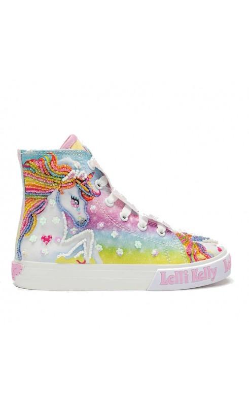 lelli-kelly-sneaker-unicorno-sneaker-alta-bianca
